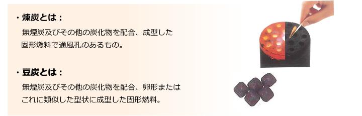 煉炭・豆炭とは   日本煉炭工業...